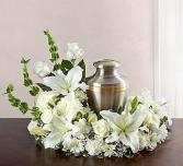Warm White Urn Arrangement