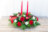Warm Wishes 2 candle centerpiece  Christmas