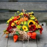 Warm Wishes Basket Arrangement