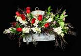 Warm Wishes Roses With Tulips in Metal Decor