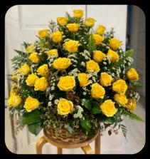 Warm Wishes  Three Dozen Rose Arrangement