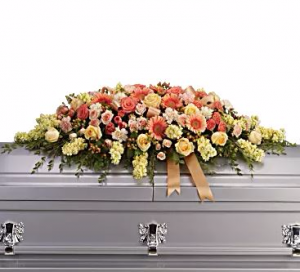 Warmest Remembrance Casket Spray in Riverside, CA | RIVERSIDE BOUQUET FLORIST