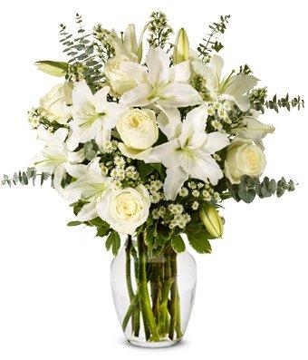 Warmest White Arrangement Vase Arrangement
