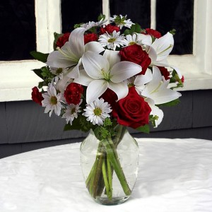 Warmest Wishes Vase Arrangement in North Adams, MA | MOUNT WILLIAMS GREENHOUSES INC