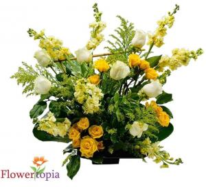 Warmth Flower Arrangement in Miami, FL | FLOWERTOPIA