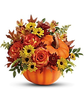 Warn Fall Wishes  fresh cut in Kernersville, NC | YOUNG'S FLORIST