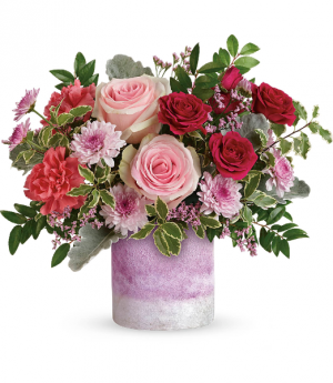 Washed in pink All-Around Floral Arrangement in Winnipeg, MB | KINGS FLORIST LTD
