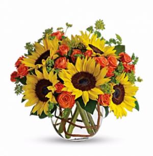Watch The Sunrise Cube Vase in San Bernardino, CA | INLAND BOUQUET FLORIST