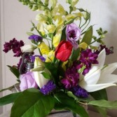 Water Hydrant Spring Flowers fresh flowers