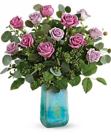 """Watercolor Roses T19M510 20""""(w) x 22.5""""(h)"""