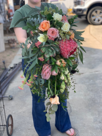 Waterfall Wedding Bouquet