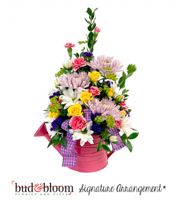 *SOLD OUT* Watering Can Bouquet Bud & Bloom Signature Arrangement