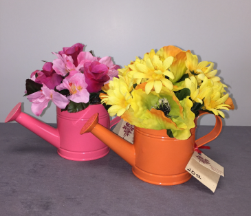 Watering Can Silk Arrangement