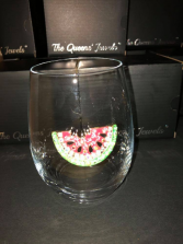 Watermelon Stemless Glass