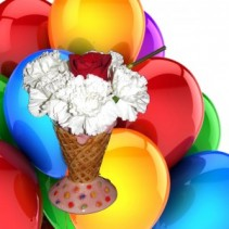 We all Scream for Ice Cream Birthday Arrangement
