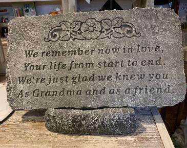 We Remember Memorial Stone