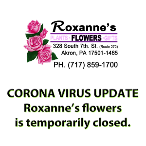 We will resume deliveries ASAP  in Akron, PA | ROXANNE'S FLOWERS