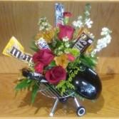 Weber Grill w/ Flowers & Snacks