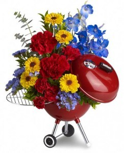 WEBER King of the Grill by Teleflora Floral Arrangement