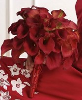 RED CALLA LILY BOUQUET Wedding Flowers WS90-21