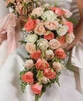 CASCADE BRIDAL BOUQUET Wedding Flowers WS91-15