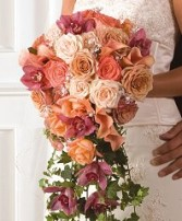 ROSE & ORCHID BOUQUET Wedding Flowers WS105-11