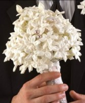 STEPHANOTIS & PEARL Bridal Bouquet WS5-11
