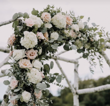 Wedding Arch Blush  Ceremony Flowers
