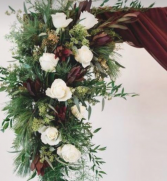 Wedding Arch Burgundy  Ceremony