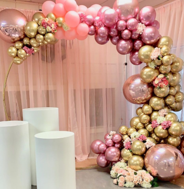 Wedding Balloon and Flowers Balloon Garland and Flowers