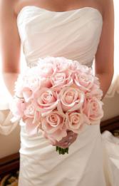 Wedding Blush Bouquet www.rosemanticoweddings.com