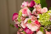 Lime Green and Pinks Bridal Bouquet