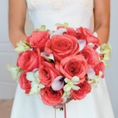 Wedding Bouquet Coral