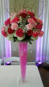 Bridal Table Arrangement  in Charlotte, NC | L & D FLOWERS OF ELEGANCE