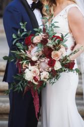 Diva Wine Wedding Bouquet