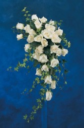 wedding bouquet all white