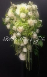 Wedding bouquet In  apple green and creame color