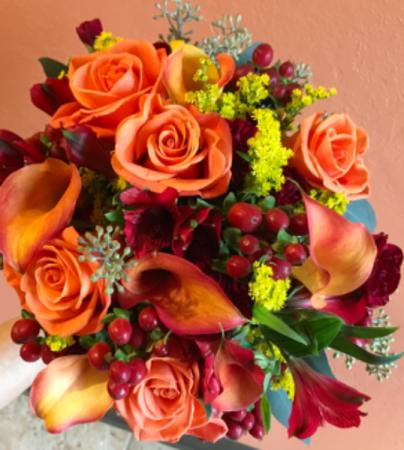 Wedding Bouquet in Orange