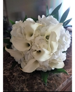 Hand Tied Wedding Bouquet Small in Boca Raton, FL | Flowers of Boca