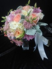 Wedding bouquet Tide wedding bouquet in white,blush pink and peach