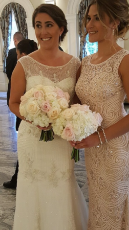 Wedding Bouquets White And Pink Roses And Hydrangea In Braintree