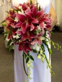 stargazers and dendrobium orchids Bridal bouquet