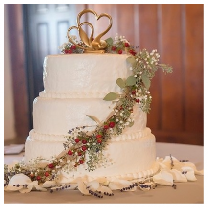 Wedding Cake Floral Decor Wedding