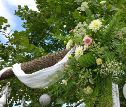 Wedding Ceremony Arbor Florals