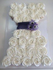 Wedding Dress Cupcake Cake Sweet Blossoms