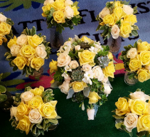Wedding Flowers Yellow and Cream Roses