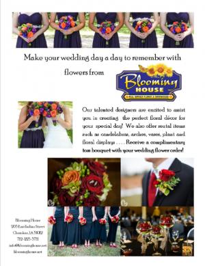 Wedding Information  in Cherokee, IA | Blooming House