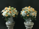 Wedding Pillar arrangements