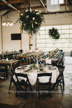 Wedding reception decor Floral Installs