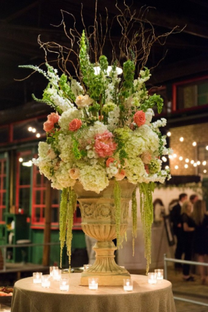 Wedding Reception Focal Arrangement Large Centerpiece